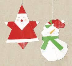 santa origami ornament snowman origami ornament