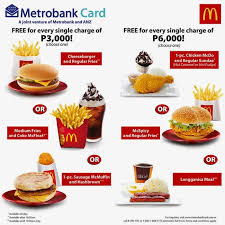 free mcdonald u0027s meal by metrobank credit card credit reports