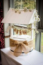 wish box wedding wooden wedding wishing well white ivory card box incl lid as