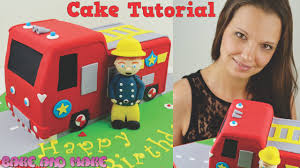 fireman sam fire truck cake tutorial how to bake and make with