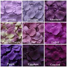 different shades of purple names purple rose petals in 14 shades purple silk rose petals fake