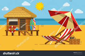 beach jeep clipart vacation travel concept beach umbrella beach stock vector