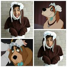 Family Dog Halloween Costumes Upcycled Peter Pan Costume Nana Dog Costume Head Enduredesigns
