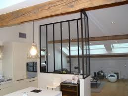 separation verriere cuisine verriere d angle type loft entre cuisine et salon autrement métal