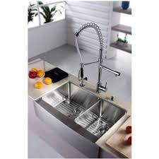 kraus commercial pre rinse chrome kitchen faucet kraus kpf 1602 ksd 30 commercial style pre rinse single handle pull