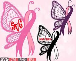 breast cancer butterfly frame clipart awareness autism ribbon faith