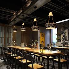 Cafe Pendant Lights Black White Iron Retro Pendant Ls Wood Metal Lshade