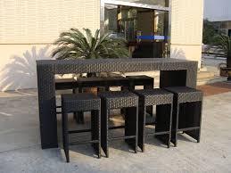 Aluminum Patio Bar Set Resin Wicker Bar Set With Power Coated Aluminum Or Steel Frame