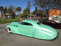 cadillac lowered mint green body kit old car whip usdm