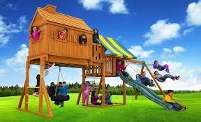 fantasy tree house swing set d best in backyards
