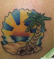 for unique anthony croteau tattoos tropical sunset tattoo