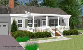 small house with ranch style porch front porch designs for ranch