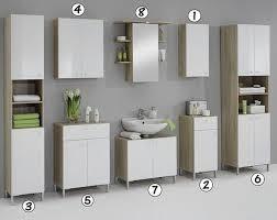luxury bilbao matching white u0026 washed oak bathroom vanity unit