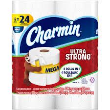 charmin ultra strong toilet paper 9 mega rolls walmart com
