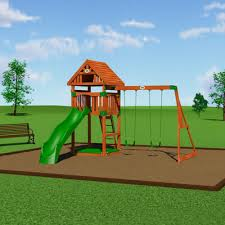Swing Set For Backyard by Backyard Discovery Trek Cedar All Cedar Swing Set U0026 Reviews Wayfair