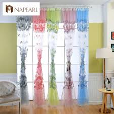 sheer window treatments rustic pastoral design transparent tulle curtains window
