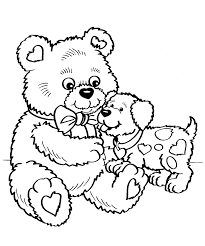 free valentines i love you beary much coloring page printable and