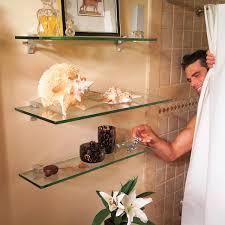 Glass Shelves For Bathrooms by Glass Shelves For Bathroom Storage U2014 The Family Handyman