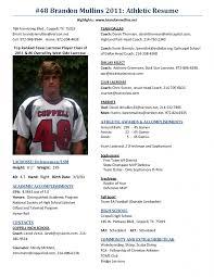 athletic resume template athletic resume template free resume template free
