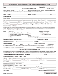 patient registration forms for a medical office templates
