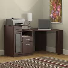 furniture black painted pine corner desk with tall display