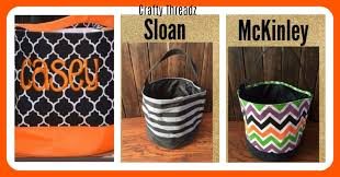 personalized trick or treat bags monogrammed buckets personalized buckets