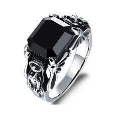black zircon rings images Hight quality fashion black zircon rings 316l stainless steel mens jpg