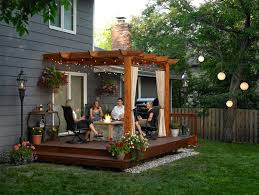 Patio Ideas For Small Backyard Lovable Small Backyard Deck Patio Ideas Small Backyard Decorating