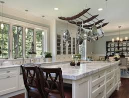 Kitchen Island With Hanging Pot Rack Kitchen Pot Shelves And Hanging Pot And Pans
