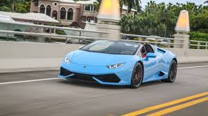 cars lamborghini blue 2016 lamborghini huracan lp 610 4 spyder convertible review with