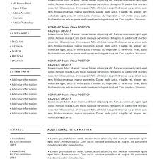 one page resume template free download professional for word pages