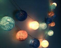 blue string lights for bedroom 35 blue navyblue white cotton ball lights fairy by admirelights