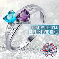 birthstone rings 925 sterling silver custom birthstone ring sincitygear