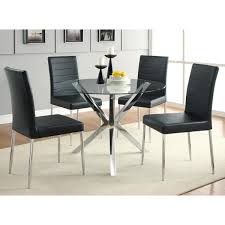 Coaster Dining Room Table Coaster Company Chrome Glass Top Dining Table Free Shipping