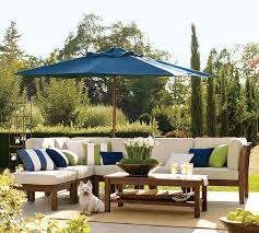 Pottery Barn Patio Umbrella by Contemporary Outdoor Living Room With Chesapeake Pottery Barn