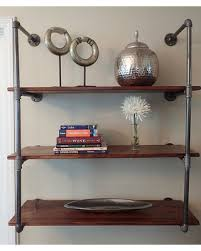 Industrial Pipe Bookcase Big Deal On Industrial Pipe Shelving Unit Wall Mounted
