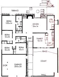 Pueblo House Plans by 1963 Lucas Valley Style Eichler Floor Plan In The Land Of