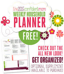 free printable mom planner 2015 free printables and planning resources for busy moms the confident mom