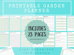 garden planning the ultimate printable garden planner