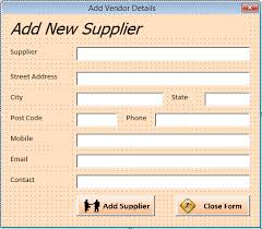 Vendor Management Excel Template Vba Excel Order And Inventory Management Excel 2013 Userforms