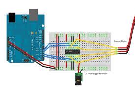 l293d control 5 wire stepper motor
