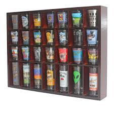 amazon com 28 shot glass shooter display case holder cabinet