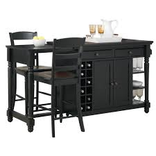 black kitchen island cart kitchen kitchen island cart with seating with home styles