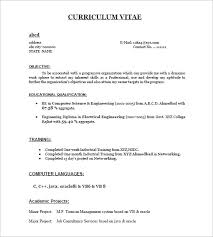 best curriculum vitae format for freshers pdf to word it fresher resume format tomyumtumweb com