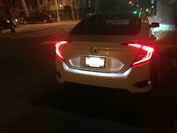xenon white led licence plate light mod 2016 honda civic forum
