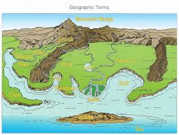 Map Of United States For Kids by Landforms For Kids Geographic Terms For Water And Landforms
