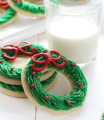 christmas wreath sugar cookie christmas wreath i am baker