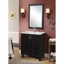 in series 30 inch classic single sink bathroom vanity dark brown