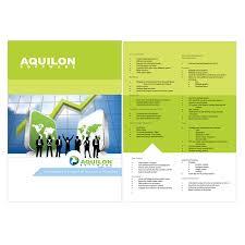 brochure design software print design contests aquilon software brochure design no 23