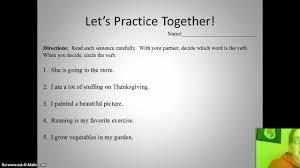 lesson plan for thanksgiving skills lesson plan verbs youtube